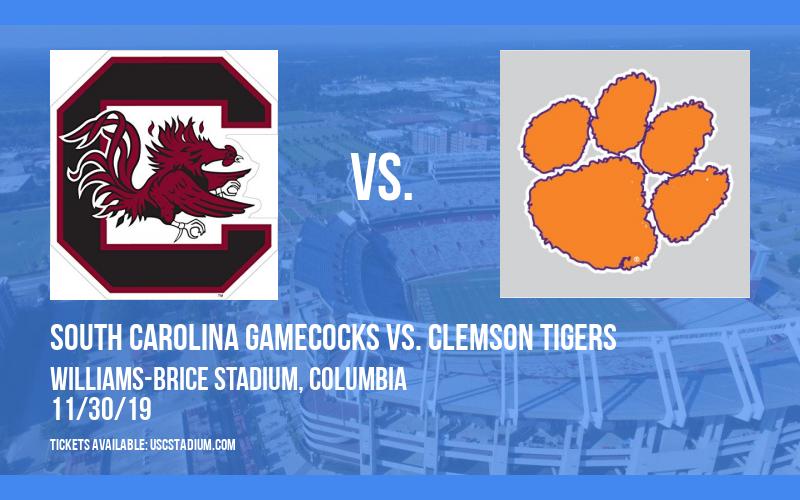 South Carolina Gamecocks vs. Clemson Tigers at Williams-Brice Stadium