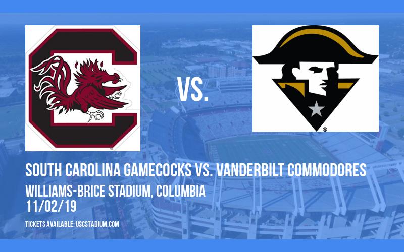 South Carolina Gamecocks vs. Vanderbilt Commodores at Williams-Brice Stadium