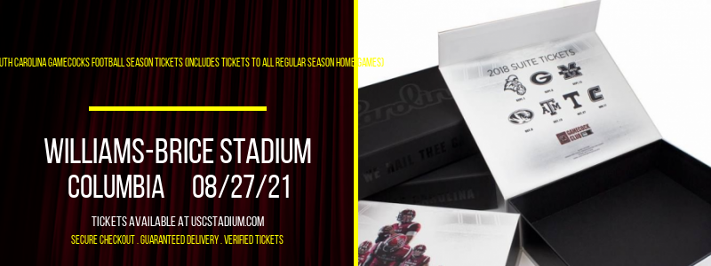 2021 South Carolina Gamecocks Football Season Tickets (Includes Tickets To All Regular Season Home Games) at Williams-Brice Stadium